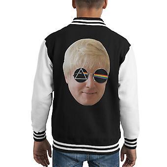 Dark Side Of Boris Johnson Kid's Varsity Jacket