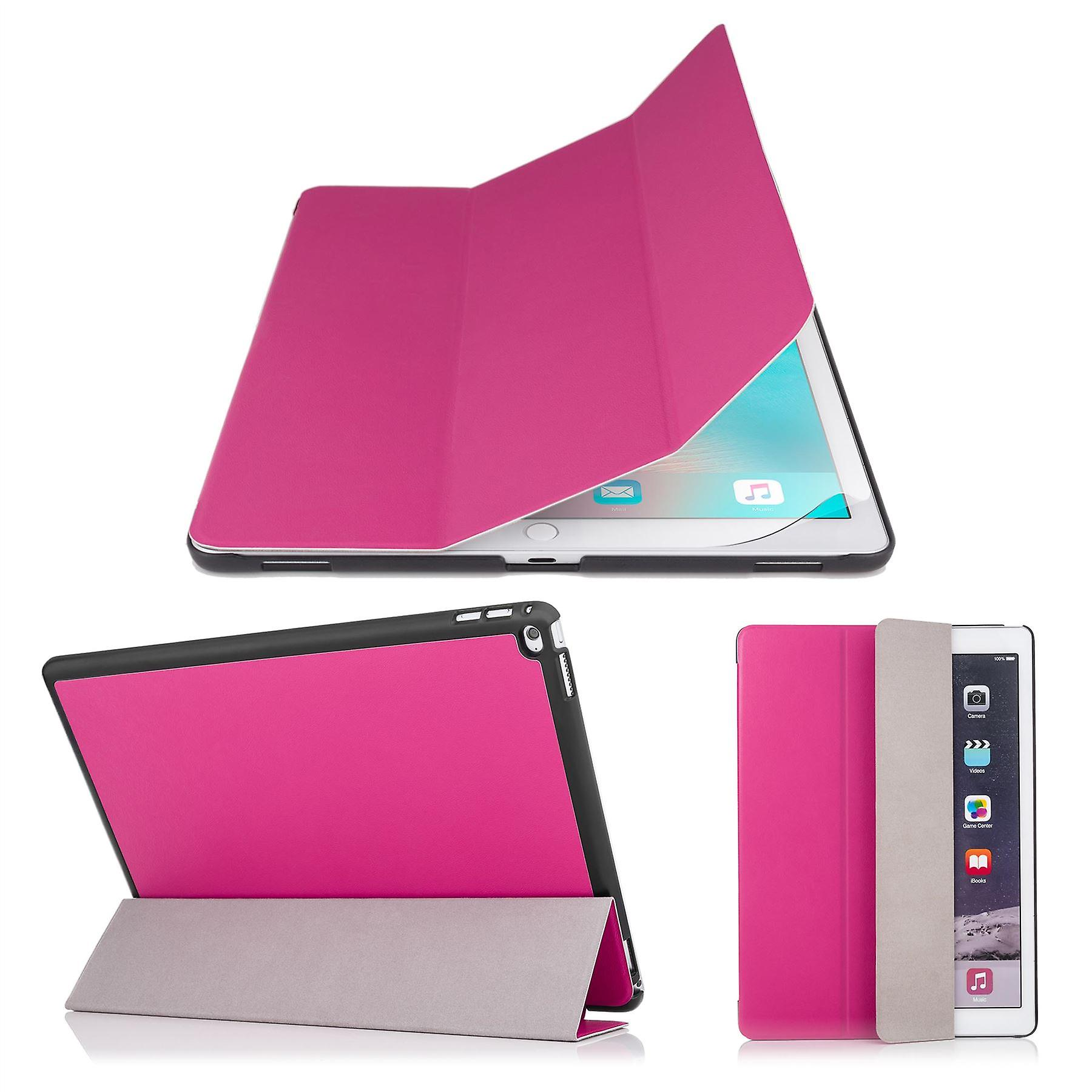 Smart cover case + stylus for Apple iPad Pro 12.9 inch (2015) - Hot Pink