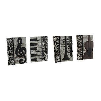 4 piece набор элегантный музыки вдохновили декоративные настенные таблички