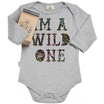 Spoilt Rotten I'm A Wild One Organic Baby Grow In Gift Milk Carton