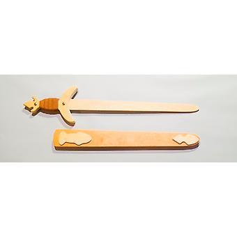 Hout kind kostuum zwaard ridder zwaard lengte 63 cm