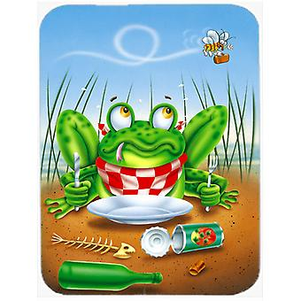Carolines Treasures  APH0520LCB Frog Happy Plate Glass Cutting Board Large