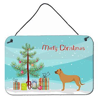 Alano Español spanska Bulldog jul väggen eller dörren hängande utskrifter