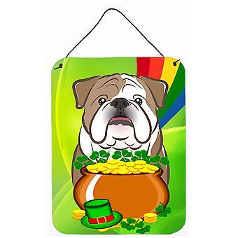 Englische Bulldogge St. Patricks Tag Wand oder Tür hängen Drucke