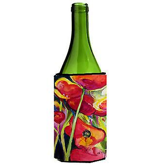 Carolines tesoros JMK1173LITERK amapolas vino botella bebida aislador Hugger