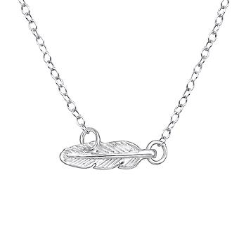 Feather - 925 Sterling Silver Plain Necklaces - W23088X