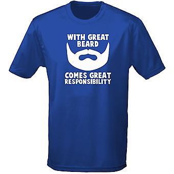 Bra skägg kommer stort ansvar Mens T-Shirt 10 färger (S-3XL) av swagwear