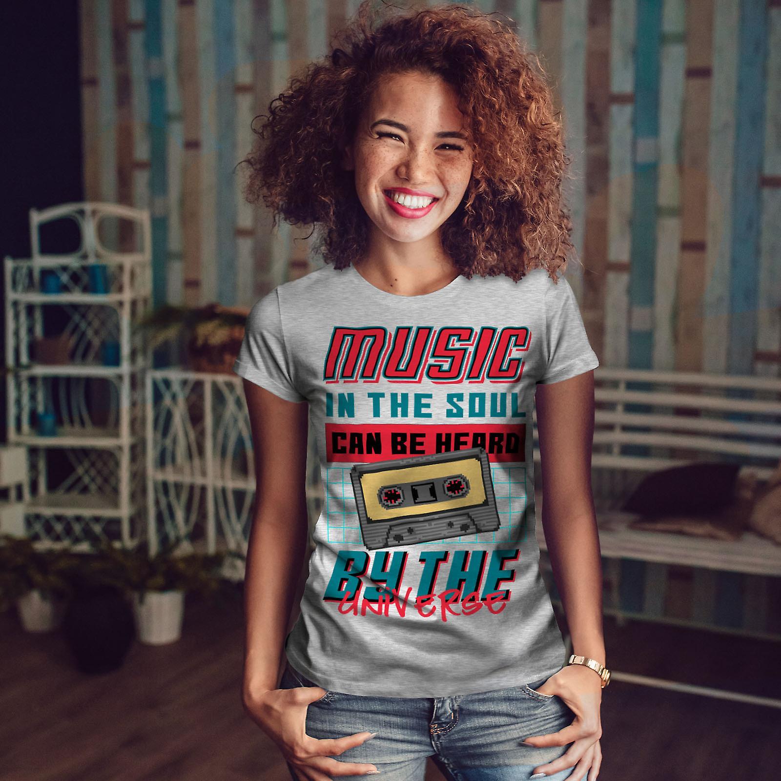 Musique dans l'âme GreyT-chemise de femme | Wellcoda
