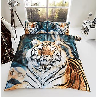 3D Animal Tiger Premium Duvet Cover Bedding Set Single Double King