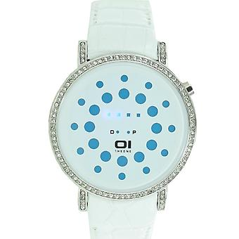 The one binary watch unisex of Odin's range - blue ORS504B1 leather
