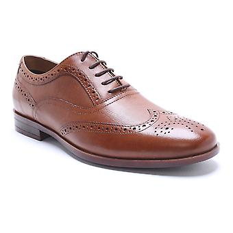 Red Tape Eastwell Tan Leather Brogue Dress Shoes