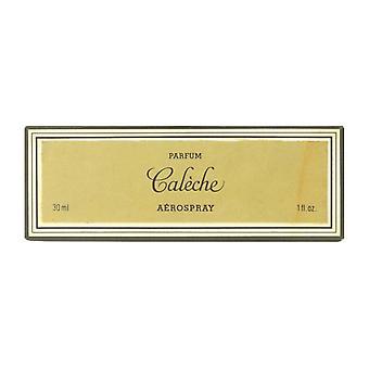 Hermes Caleche Aerospray Parfum 1,0 Oz/30 ml bottiglia riutilizzabile In Box (75% completo)