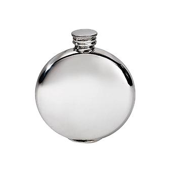 Plain Pewter Round Flask - 4oz