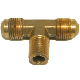 Big A Service Line 3-145640 Brass Pipe, Flare Tee Fitting 3/8 X 3/8 X 1/8