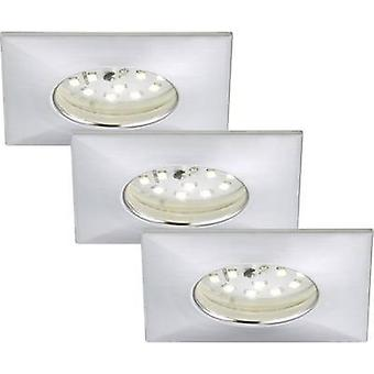 Briloner 7205-039 LED bathroom recessed light 3-piece set 15 W Warm white Aluminium