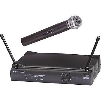 Omnitronic VHF-250 trådløs mikrofon sæt Transfer type: radio