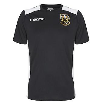 2018-2019 Northampton Saints Macron Staff Rugby Training Shirt (Black)