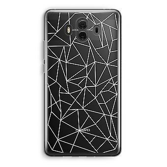 Huawei Mate 10 caso transparente (Soft) - linhas geométricas brancas