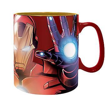 Marvel XL beker De Armored Avenger Iron Man Metallic rood, bedrukt, gemaakt van keramiek, socket÷gen ca. 460 ml..