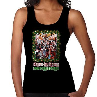 Grand Theft Auto Drive By Home For Christmas Women's Vest