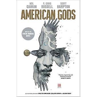American Gods - sombras - adaptados pela primeira vez em quadrinhos deslumbrante