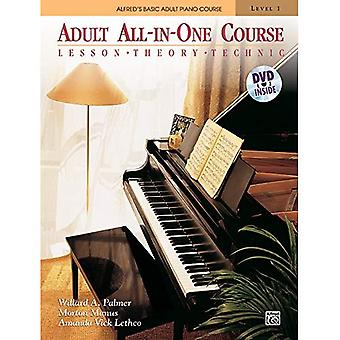 Alfred's Basic Adult All-In-One Course, Level 1: Lesson, Theory, Technic [With DVD]