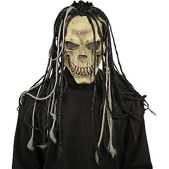 Masque de mort Dread W/cheveux pour Halloween