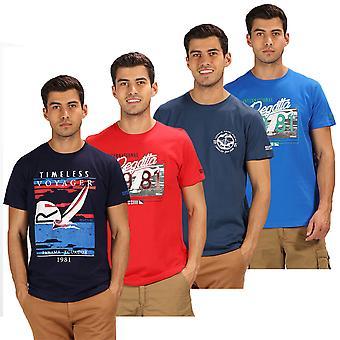 Regatta Herren Cline III Grafik Druck Rundhals Baumwolle T-Shirt