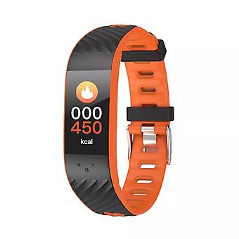 P4 activity wristband with blood pressure and heart rate monitor-Orange
