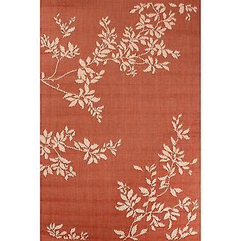 Outdoor Leaves Teppiche in Terracotta By Rugstyle