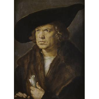 Retrato de un hombre, Albrecht Durer, 50x36cm
