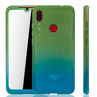 Xiaomi Redmi Note 7 Phone Case Protection Case Full Cover Tank Protection Glass / Blue Xiaomi Redmi Note 7 Phone Case Protection Case Full Cover Tank Protection Glass / Blue Xiaomi Redmi