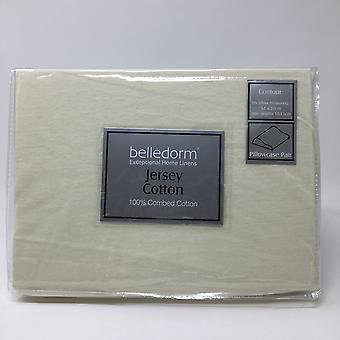 Belledorm Jersey Cotton Contour Pillowcase (Pair)