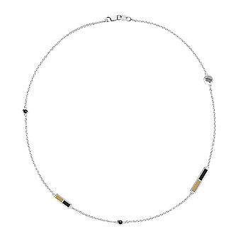 University of Central Florida Black Onyx Chain Necklace In Sterling Silver Design by BIXLER