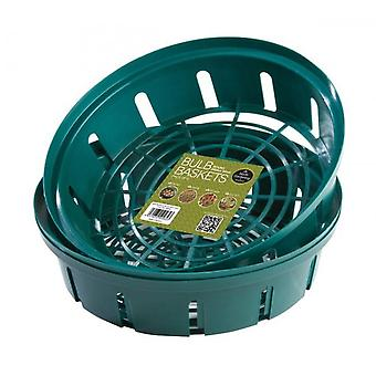 Bulb Baskets Round Small 26cm Pack of 3 Green