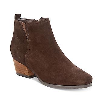 Aqua Womens Isla Leather Almond Toe Ankle Boots