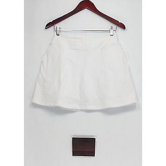 Women with Control Petite Shorts XSP Pull-on with Pockets White A288786