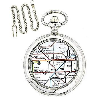 Boxx Gents London Underground Pocket Watch With 12 Inch Chain Boxed Boxx133