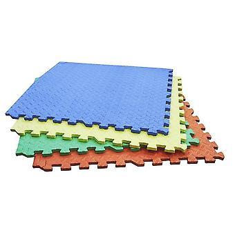 Alfombrillas de piso de cierre inter-cierre de 4PC de color 60cm de color