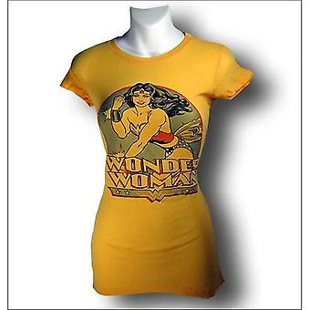 Wonder Woman Gold Juniors Bracelet Bearing T-Shirt
