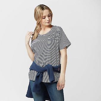 Nieuwe Peter Storm vrouwen ' s Angel korte mouw T-Shirt Navy