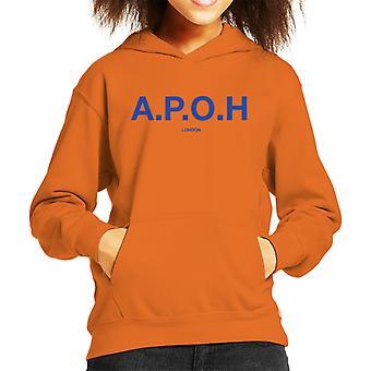 A. P. O. H klassisk cobalt logo kid ' s hættetrøje