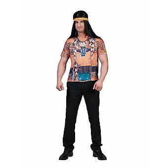Indian Warrior 3D Shirt Hommes Costume Easy Peasy Buffalo Hunter Costume Homme