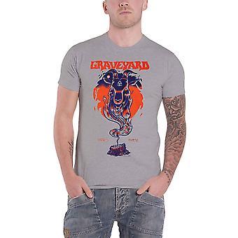 Friedhof T Shirt Satans finest Band Logo neue offizielle Herren grau