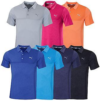 Puma Golf Mens 3D Knit Breakers DryCell EvoKnit Wicking UPF40 Polo Shirt