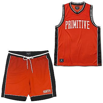Primitive Apparel Champs Basketball Set Electric Red
