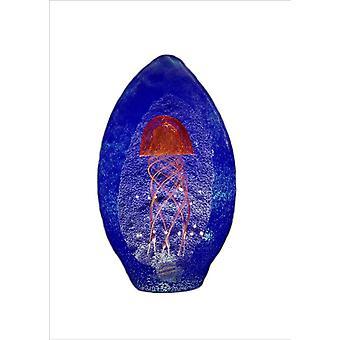 Bergdalshyttan-Art Glass-Manet red/blue Design Magnus Carlsson