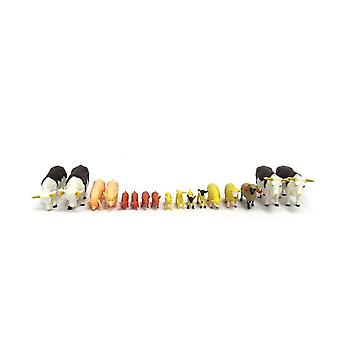 Britains Farmyard Mixed Animal Set - 17 Farm Animals 1:32