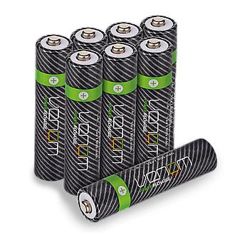 Venom power recharge - 800mah nimh rechargeable aaa batteries (pack of 8)