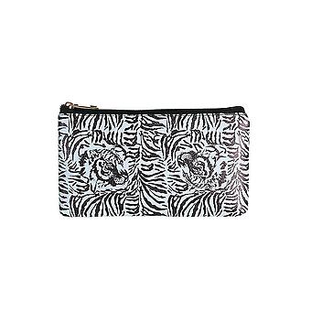 Jewelcity kvinner/Ladies Tiger camo ut liten flat makeup bag